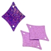 Sequins Hologram 29x36mm With Hole Diamond Pink